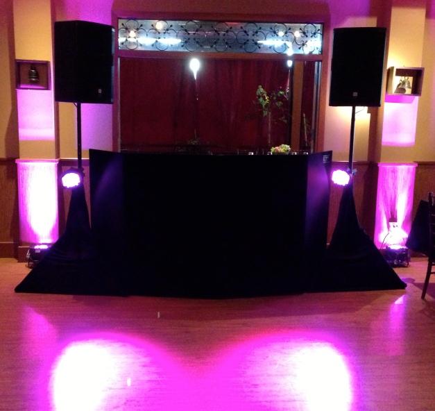 Wedding DJ  in Westminster Pink Up lights and Color Wash