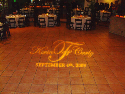 Hacienda wedding Monogram Gobo