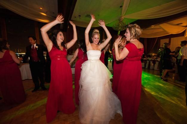 Long Beach Wedding Color dance lights