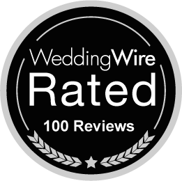 100 reviews on Wedding Wire