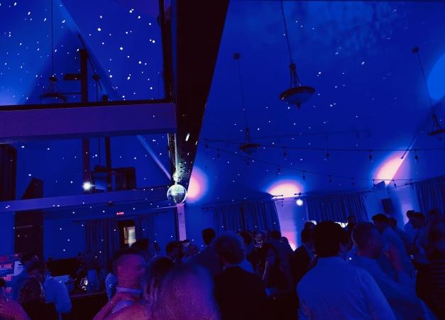 Starry Night Lighting with Mirror Ball